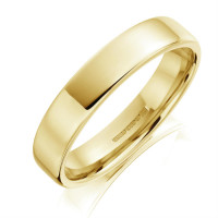 18ct Yellow Gold 3mm Flat Court Softened Edges Wedding Band Size L 12A6/3  SPECIAL OFFER
