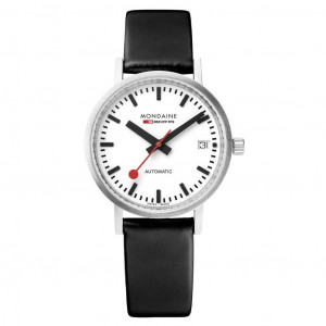 Mondaine Automatic Leather Strap Watch A128.30008.16SBB