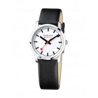 Mondaine Simply Elegant 36 mm Black Leather Watch A400.30351.11SBB