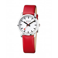 Mondaine Simply Elegant 36mm Red Leather Watch A400.30351.11SBC