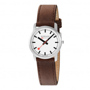 Mondaine Classic 40mm Brown Leather Strap Watch A660.30360.11SBG