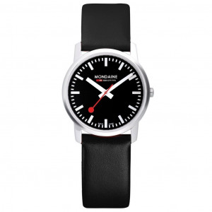 Modaine Simply Elegant, 41 MM, Black Leather Watch, A638.30350.14SBB