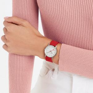 Mondaine Classic 30mm, Modern Red Watch A658.30323.17SBC