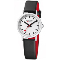 Mondaine Ladies 30mm Classic Black Leather Strap Watch A658.30323.11SBB