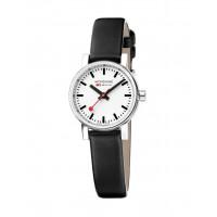 Mondaine EVO2 26mm Black Leather Watch MSE.26110.LB