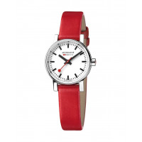 Mondaine EVO2 26mm Red Leather Watch MSE.26110.LC