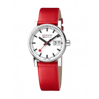 Mondaine EVO2 30mm Red Leather Watch MSE.30210.LC