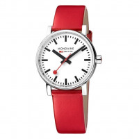 Mondaine EVO2 35mm Red Leather Watch MSE.35110.LC
