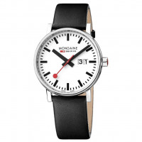 Mondaine EVO2 40mm Black Leather Watch MSE.40210.LB