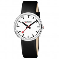 Mondaine Giant 35mm Black Leather Watch MSX.3511B.LB