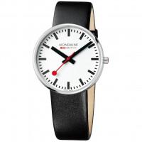 Mondaine Giant 42mm Black Leather Watch MSX.4211B.LB
