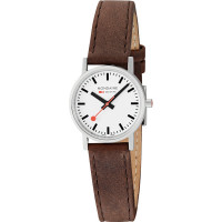 Mondaine Classic 30mm Brown Leather Strap Watch A658.30323.11SBG