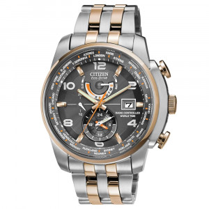 Citizen Eco Drive World Time A.T  Watch WR200 AT9016-56H
