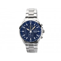 Accurist Gents Blue Dial Chrono Bracelet Watch 7005
