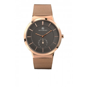 Accurist Gents Classic Rose Gold Plated Mesh Bracelet Watch 7016
