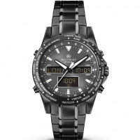 Accurist Gents World Time Analogue & Digital Bracelet Watch 7102