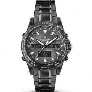 Accurist Gents World Time Analogue & Digital Bracelet Watch 7102