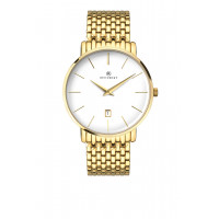 Accurist Gents Classic Gold Plated Bracelet Watch 7160