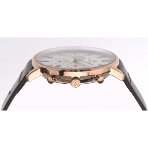 Accurist Gents Rose Gold Plated Brown Leather Strap Chronograph Watch 7170