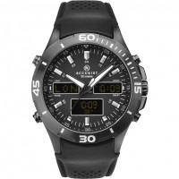 Accurist Gents World Time Analogue & Digital Strap Watch  7192