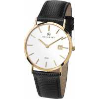 Accurist London 9ct Gold Gents Strap Watch 7801