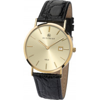 Accurist London Gents 9ct Gold Strap Watch 7802