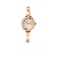 Accurist London Ladies Rose Plated Dress Watch 8011