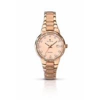 Accurist London Ladies Rose Plated Bracelet Watch 8017
