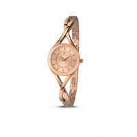 Accurist London Ladies Rose Plated Bracelet Watch 8137