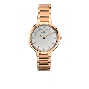 Accurist Rose Gold Plated Ladies Bracelet Watch 8152