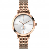 Accurist London Ladies Rose Gold Plated Bracelet Watch 8180
