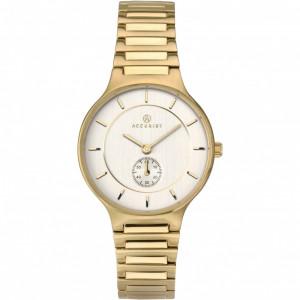 Accurist London Ladies Gold Plt Bracelet Watch 8186