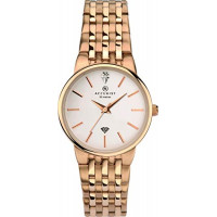 Accurist London Ladies Diamond Set Rose Plt Bracelet Watch 8197