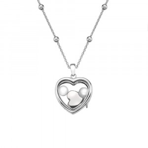 Anais Sterling Silver June Genuine Moonstone Heart Locket Set AS009