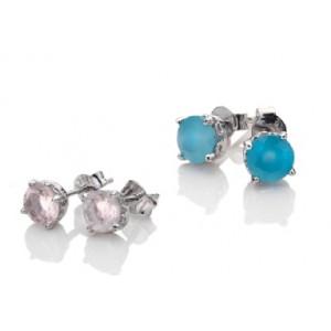 Anais  Sterling Silver Real Gemstone Stud Earrings AE00
