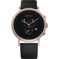 Bering Gent's Rose Gold Plated Chrono Strap Watch 10540-462