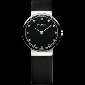 Bering Ladies Black and Stainless Steel Strap Watch 10725-442