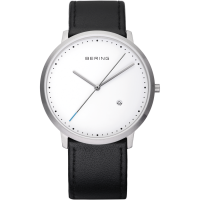 Bering Stainless Steel Gents Strap Watch 11139-404