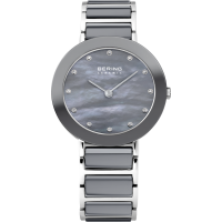 Bering Ladies Gray Ceramic Watch 11429-789
