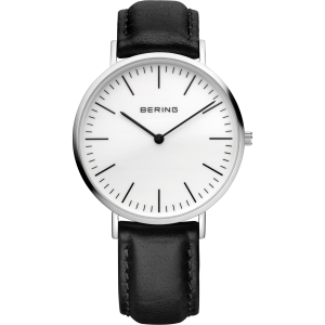 Bering Gents Black Leather Strap Classic 13738-404
