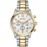 Bulova Gents Two Tone Bracelet Watch 98B330
