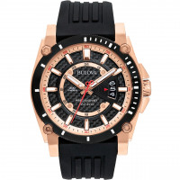Bulova Gents Precisionist Strap Watch 98G152