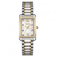 Bulova Ladies Two Tone Diamond Dress Watch 98S144