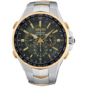 Seiko Mens Coutura Green Solar Radio Sync Watch SSG022P9