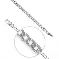 """Silver 20"""" Chamfered Edge Diamond Cut Curb Chain CE-R9390-51"""