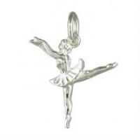 Silver Ballerina Charm