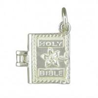 Silver Bible Charm