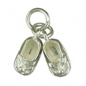 Silver Baby Boots Charm