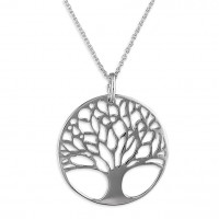 Silver Tree Of Life Pendant & Chain CE-H1565-46