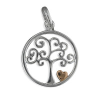 Silver Tree Of Life Pendant & Chain CE-H2065/R